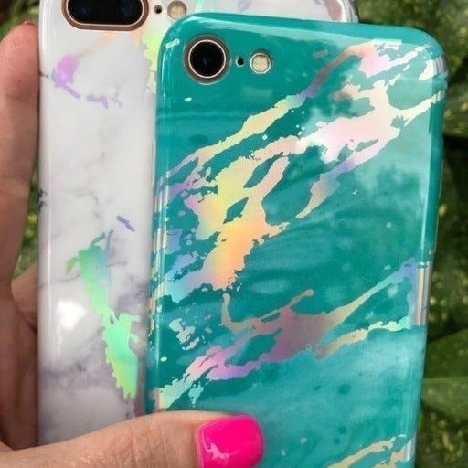 NEW iPhone 7P/8P White Holographic Case