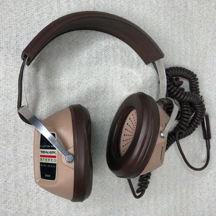 KOSS Brown Stereo Ear Pro Headphones