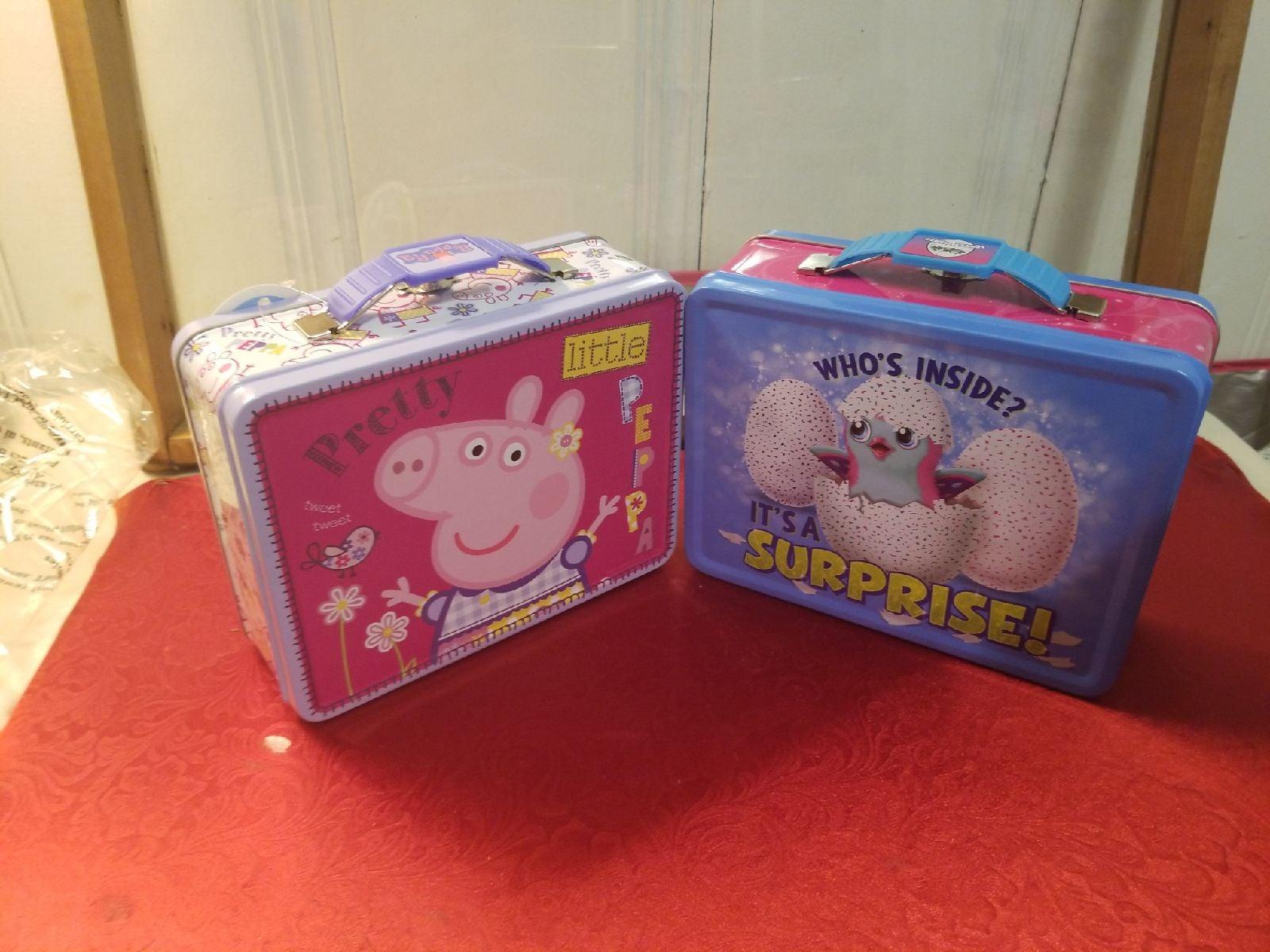 Peppa Pig Hatchimals Tin Lunchbox Bundle