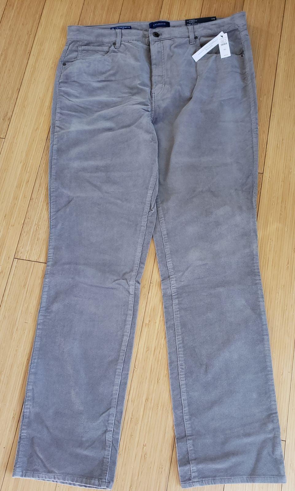 Gray Talbots man's corduroy pants