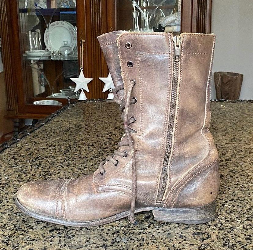 Allsaints Leather Boots - Size 10