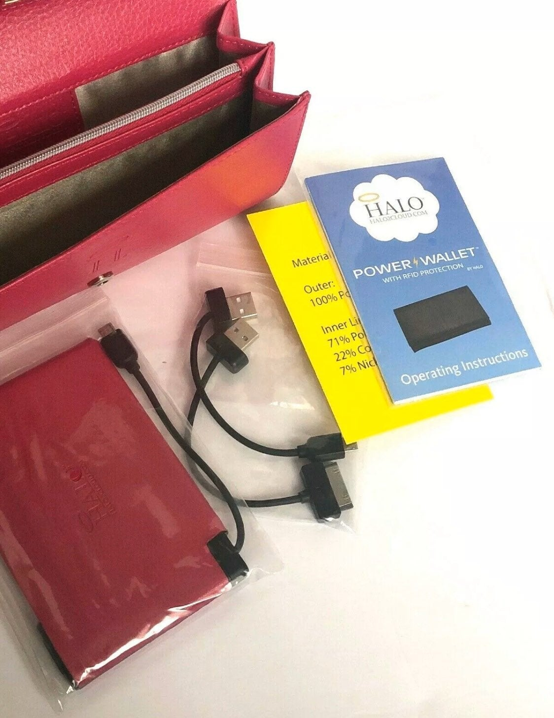 HALO Power Wallet w/ RFID Protection NWT