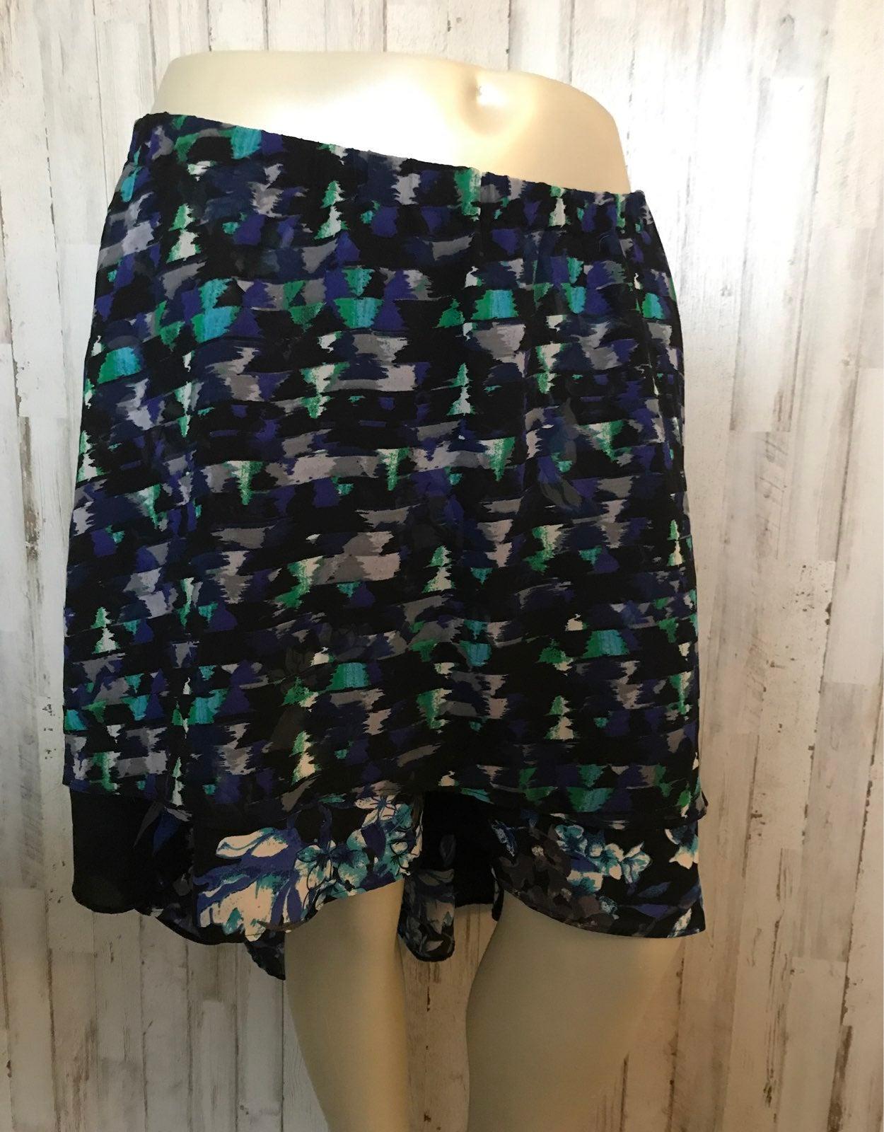 Xl layerd high low skirt