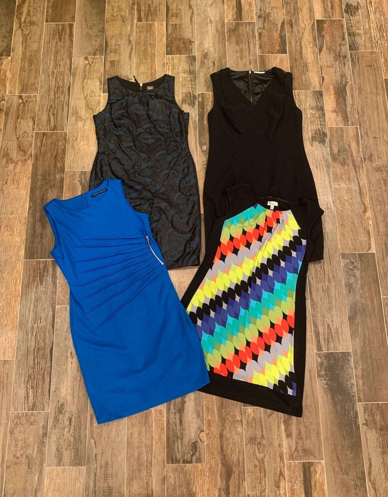 4pc TAHARI ++ Sheath Dress Lot Large