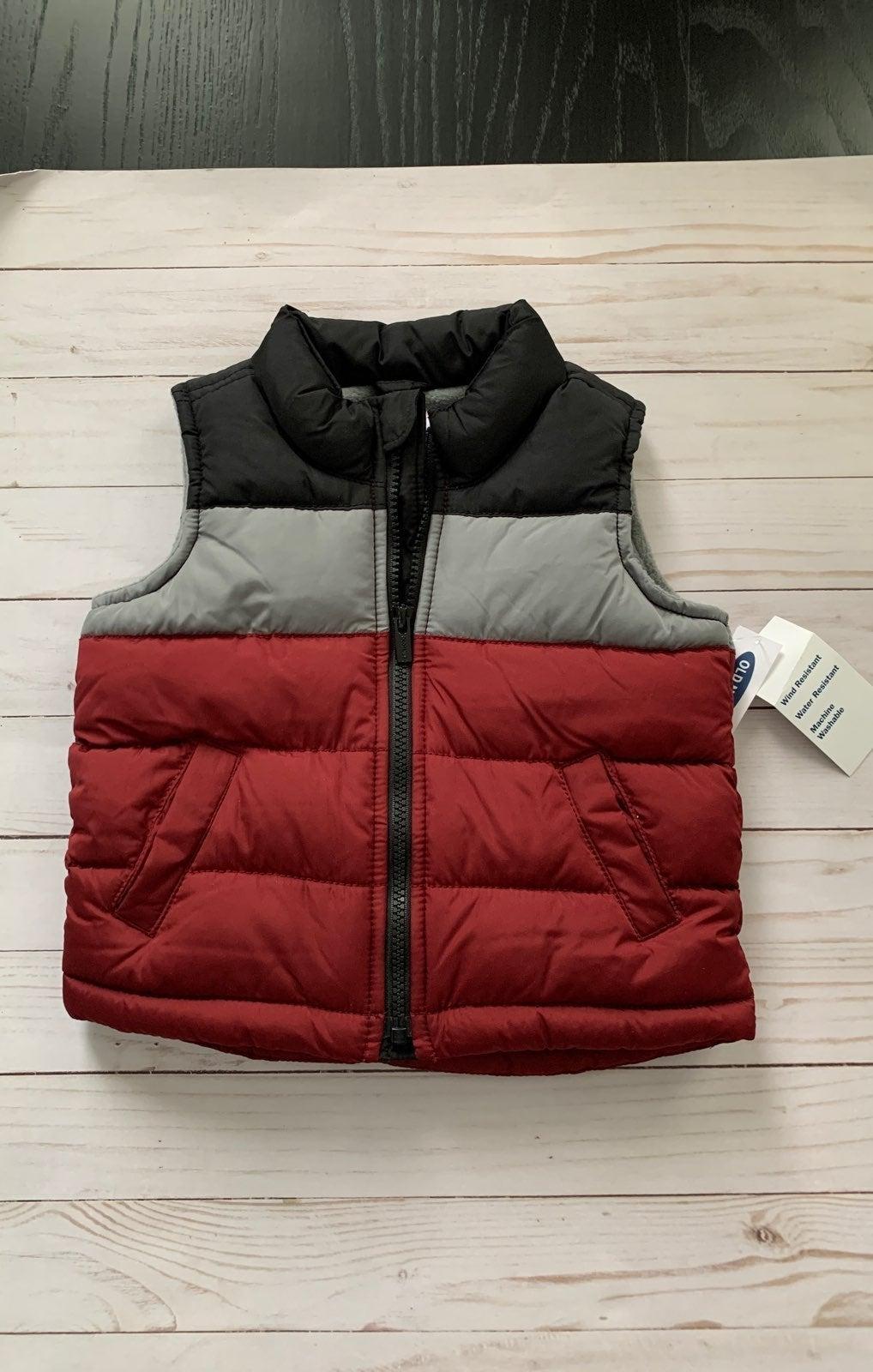 NWT Puffer Vest fleece 18-24 mo