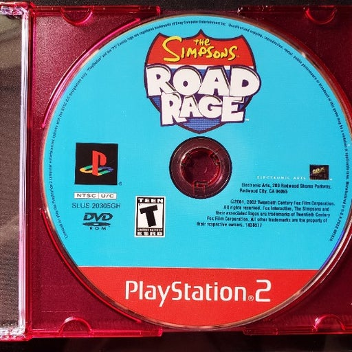 The Simpsons: Road Rage PS2 Disc Tested