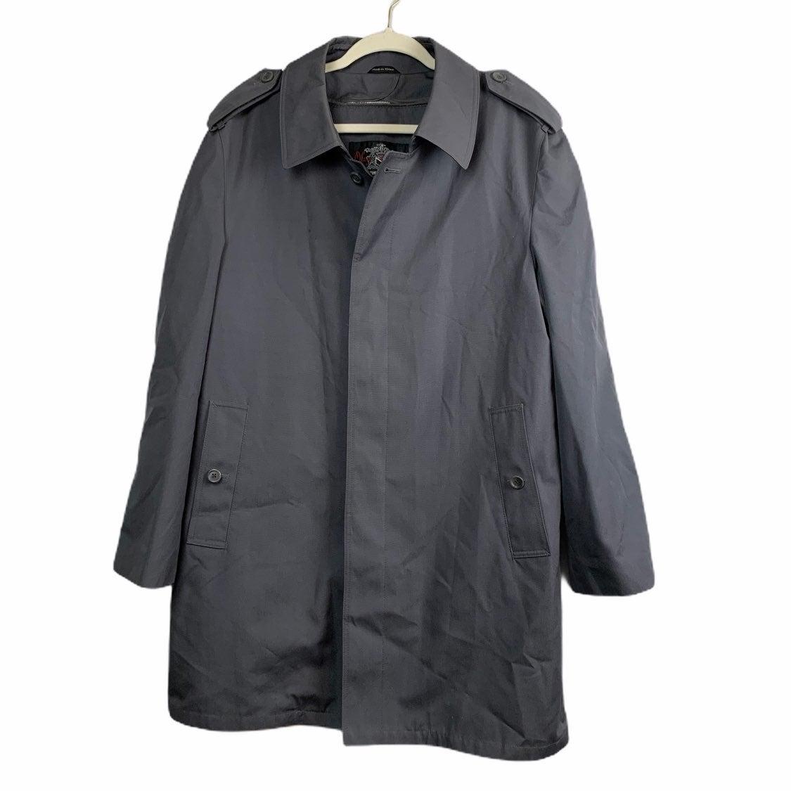 Oleg Cassini Men's Gray Trench Coat 40R