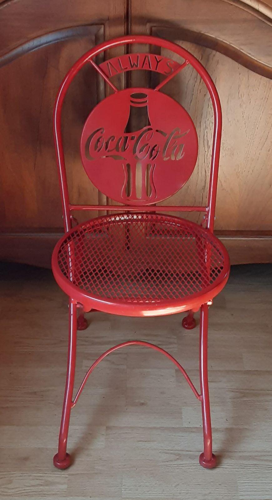Vintage Coca-Cola Metal Folding Chair