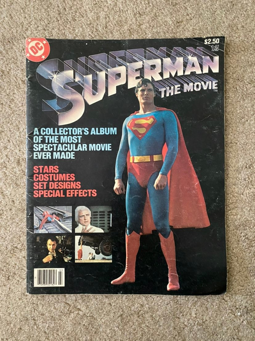 Vintage Superman Movie Collectors Album