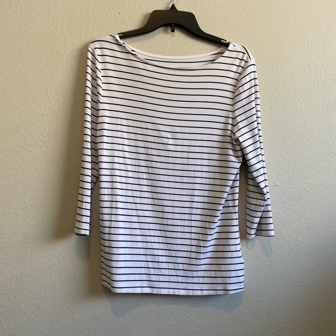 a new day Womens Striped Blouse