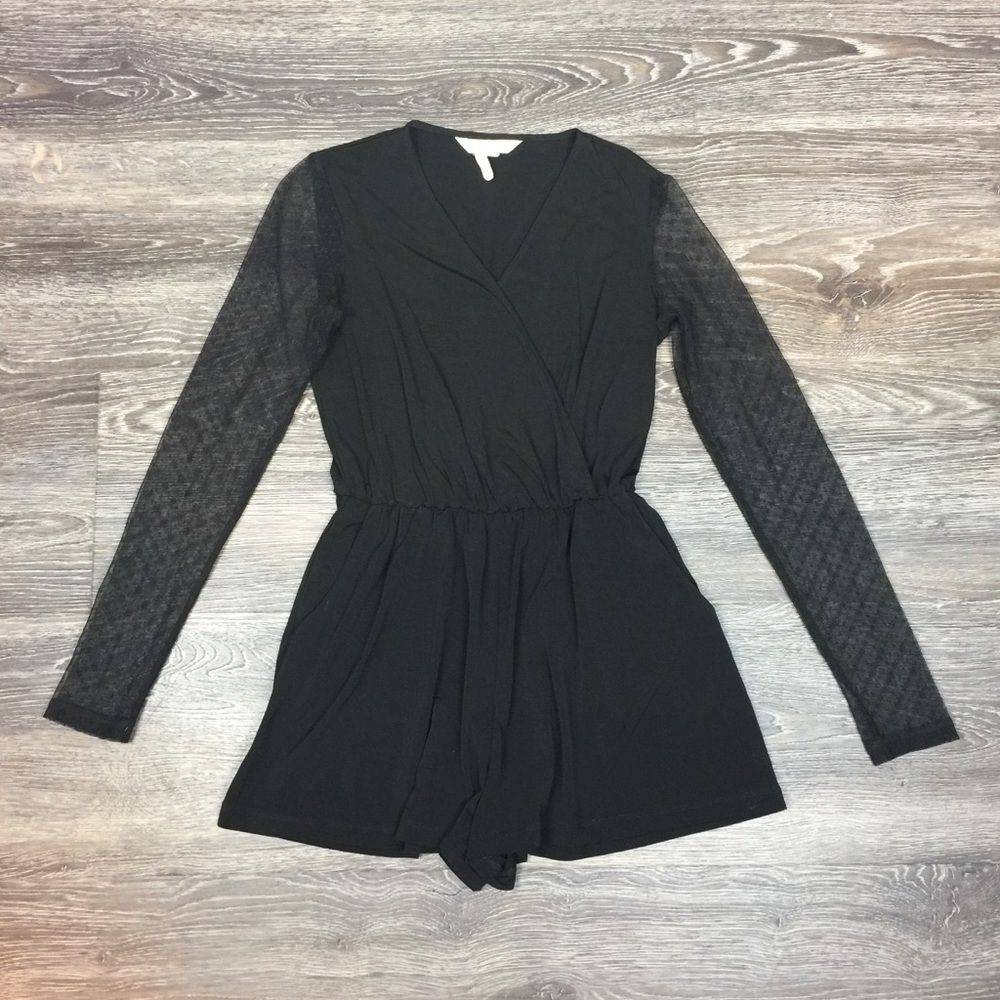•BCBGeneration• Romper With Lace Sleeves
