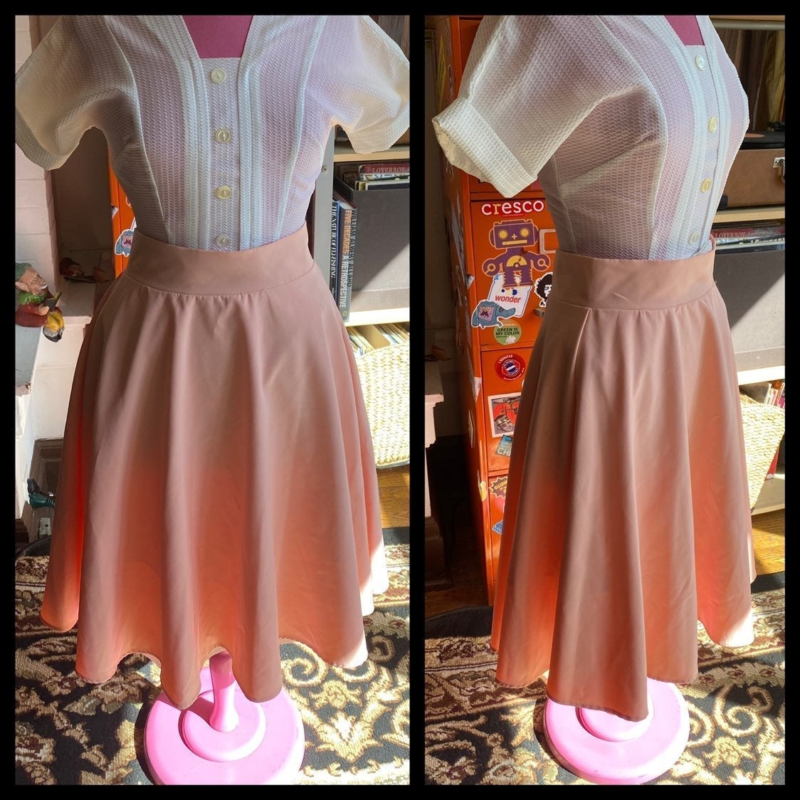 Pink poodle swing skirt