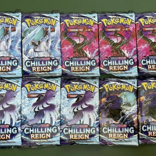 10x Chilling Reign booster packs!