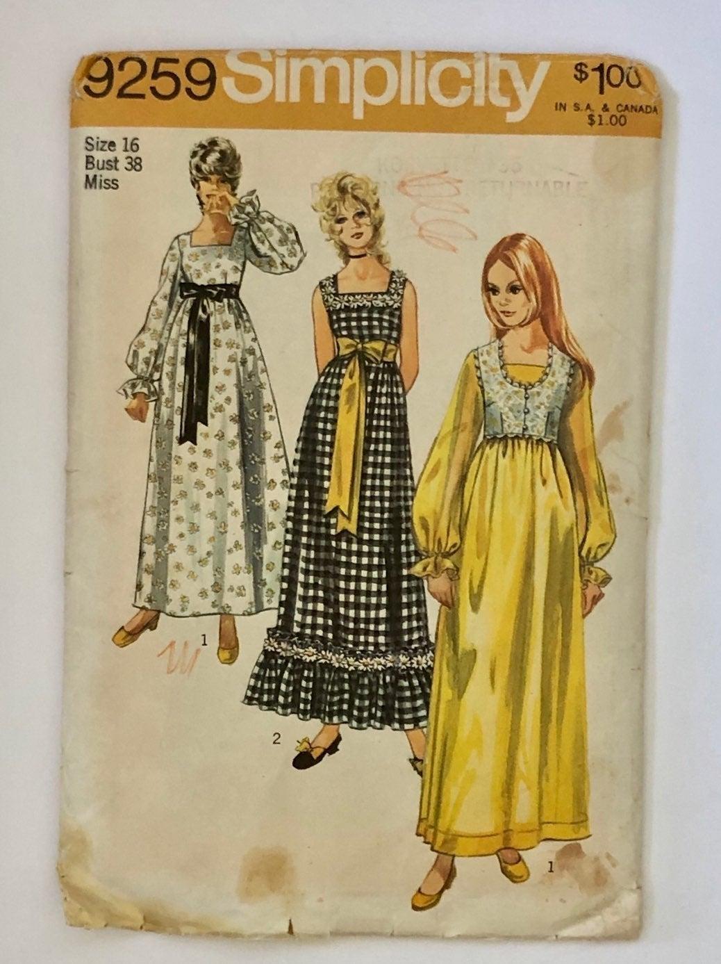 Vintage Simplicity Sewing Pattern