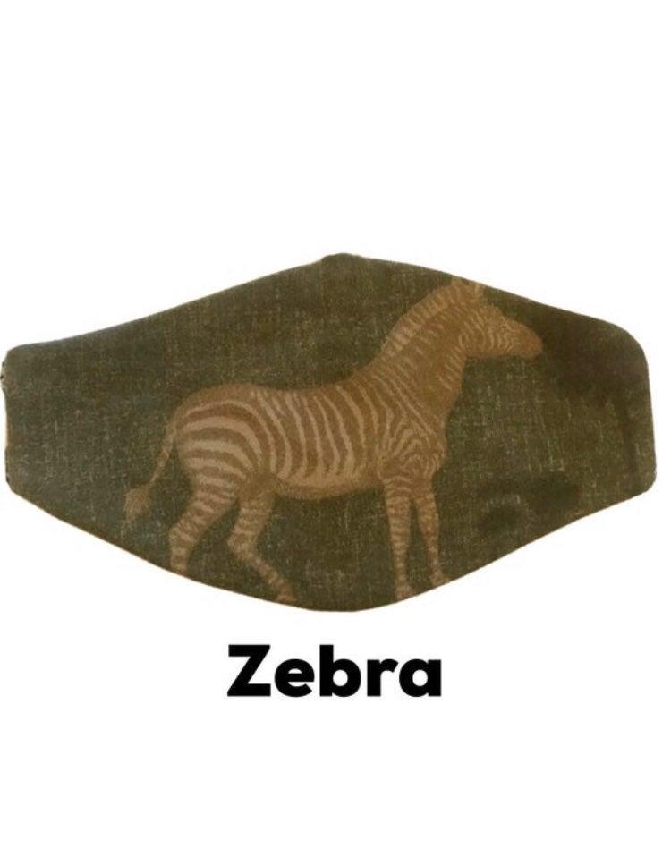 Handmade Face Mask Zebra Reusable Filter