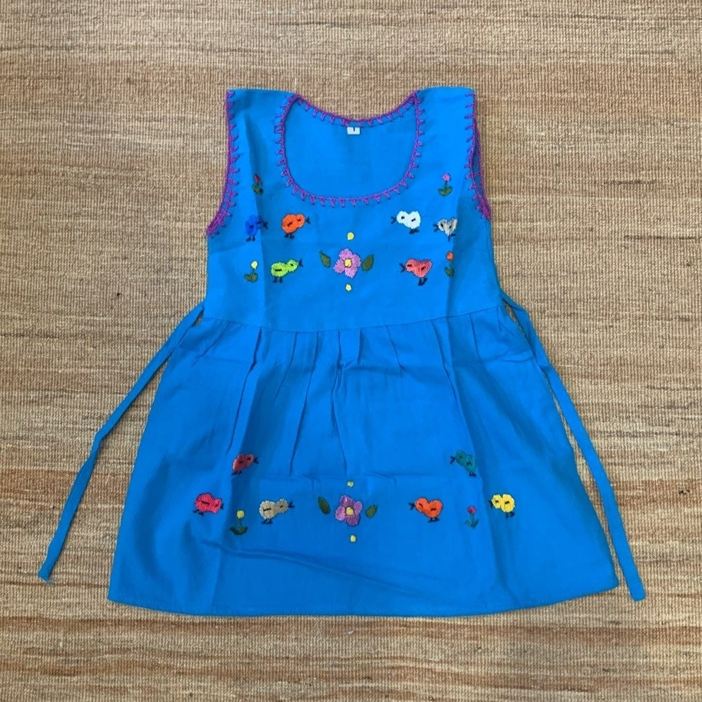 Little Chick Girl Hand Embroider Dress