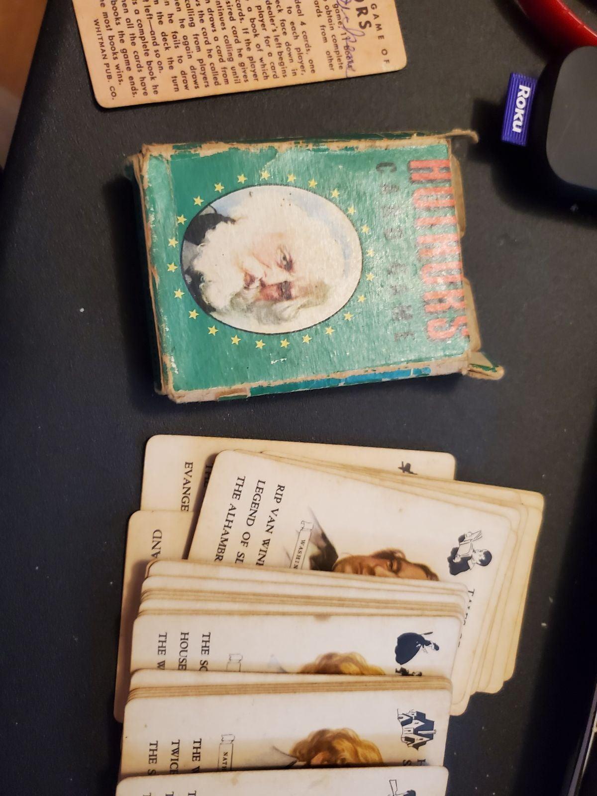 Vintage Whitman Authors Card game