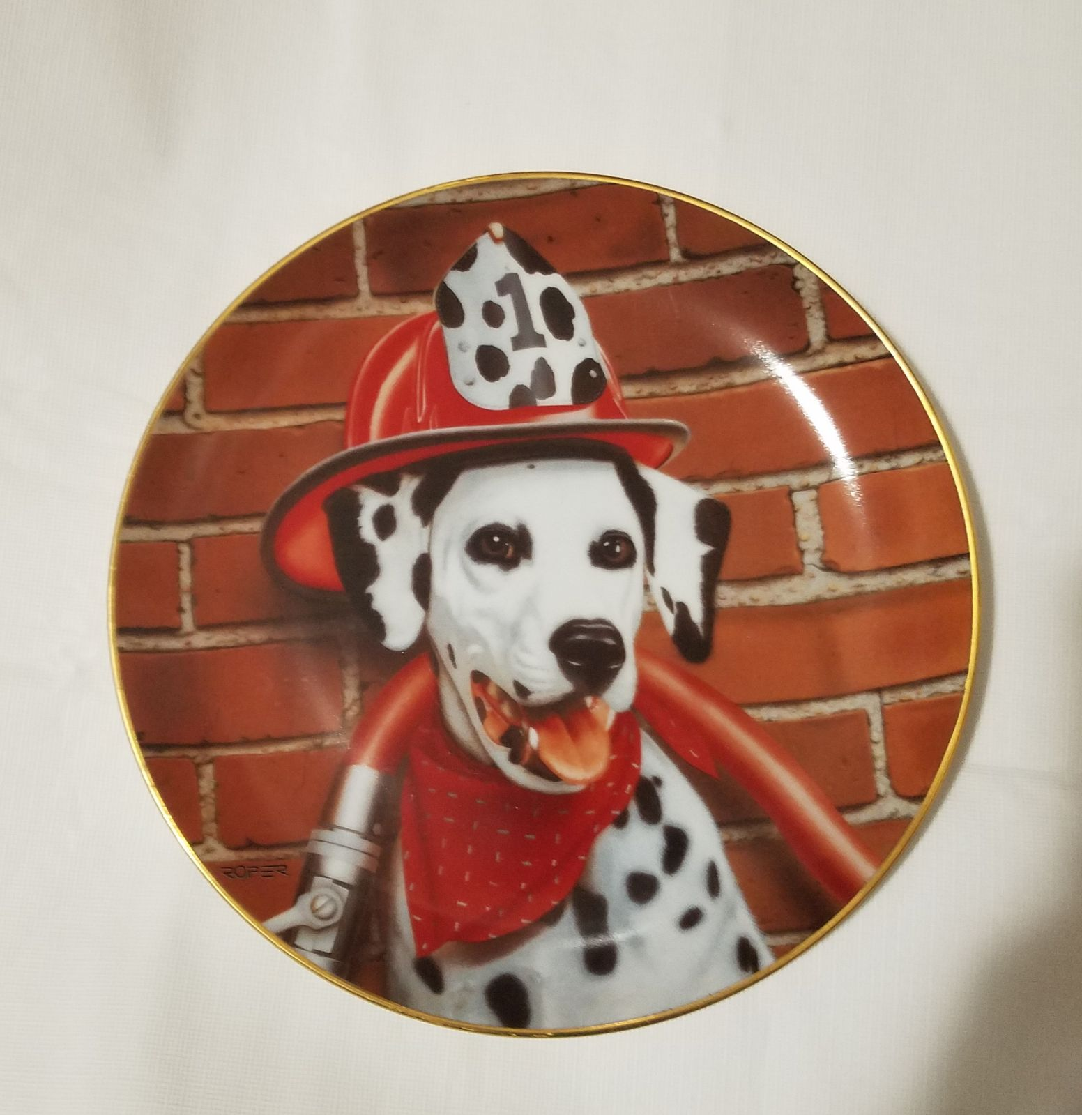 Dalmatian sparky, fire capers
