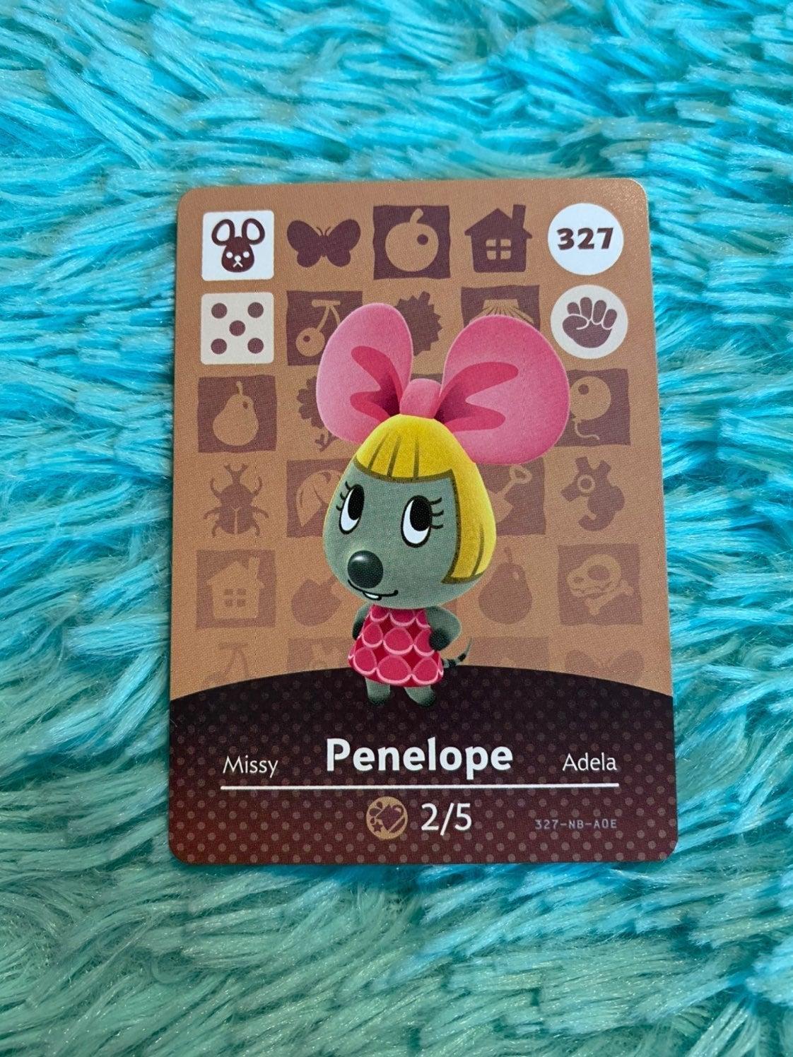 Penelope - Animal Crossing Amiibo Card