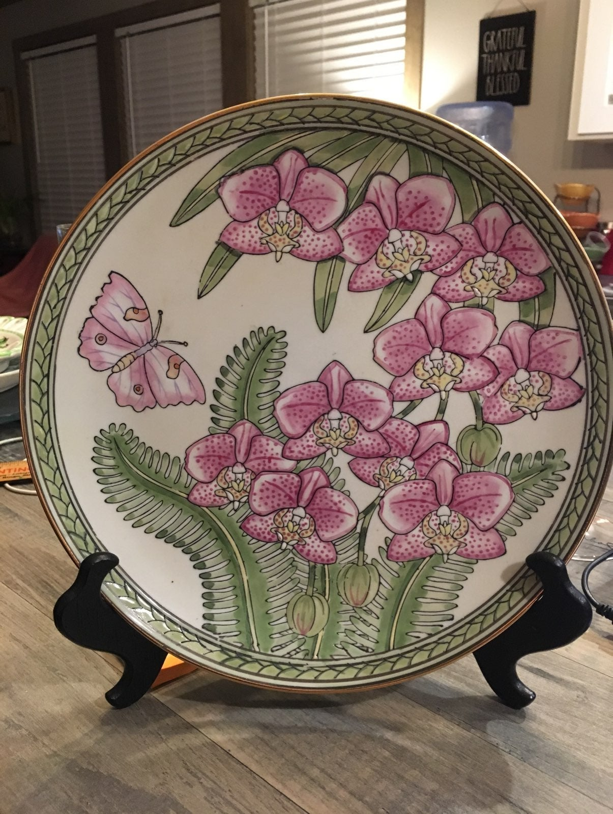 Orchid Collection Plate by Siddhia Hutch