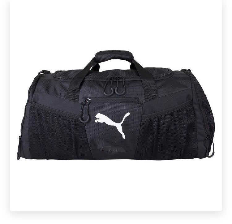 "PUMA 24"" Conversion Duffel Bag NWT Black"