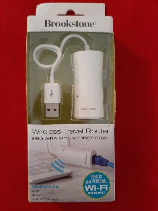 Brookstone wireless wifi travel router