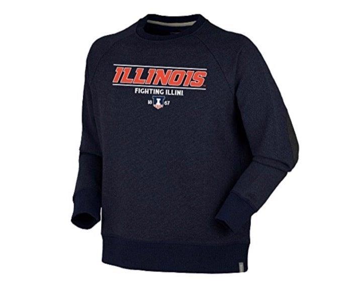 Illinois Illini Men's Crew Sweater 2XL