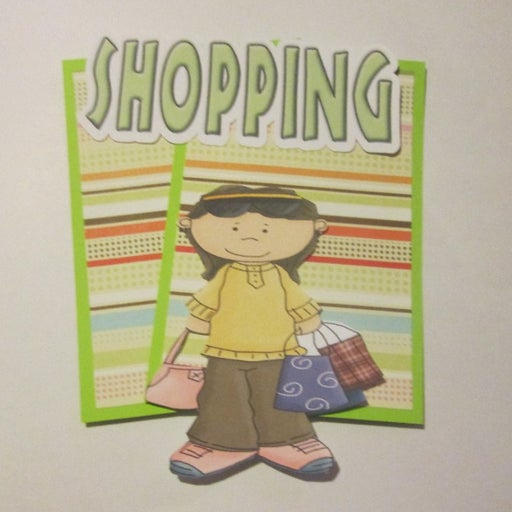 Shopping b - Scrapbook or Card Set
