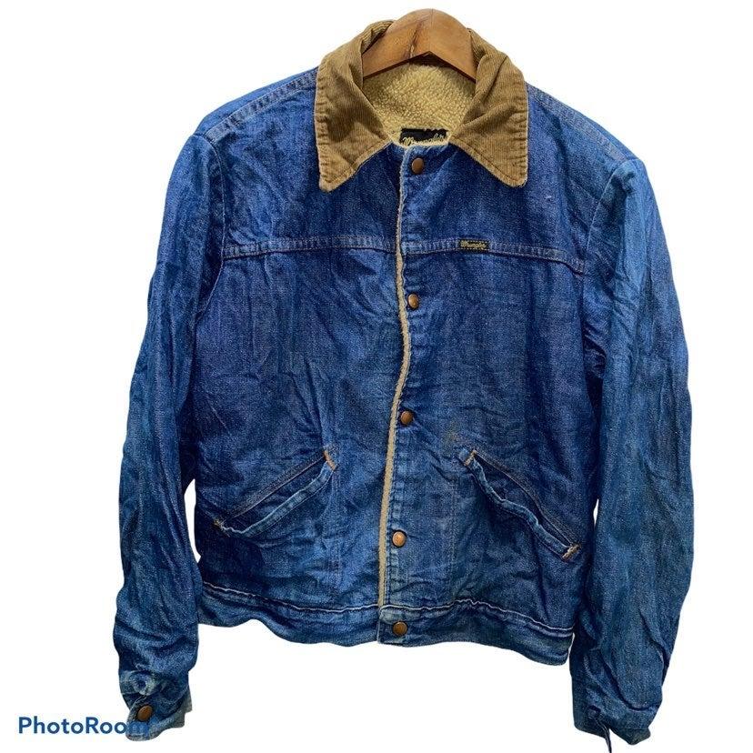 Vintage 80s Wrangler Sherpa Denim Jacket