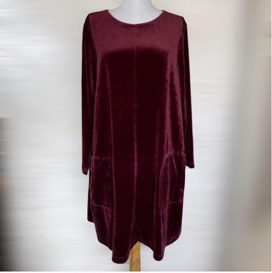 Purejill Velour Pocket Tunic Dress