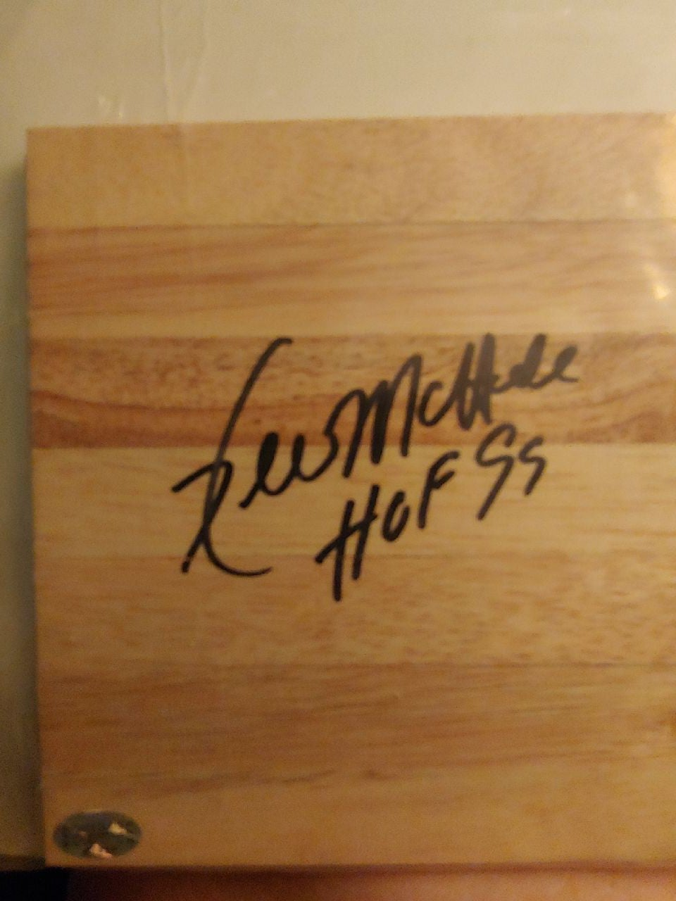 Signed flooring by Kevin Mchale comes wi
