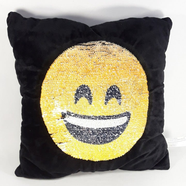 Square Throw Pillow Smiley Face Shades