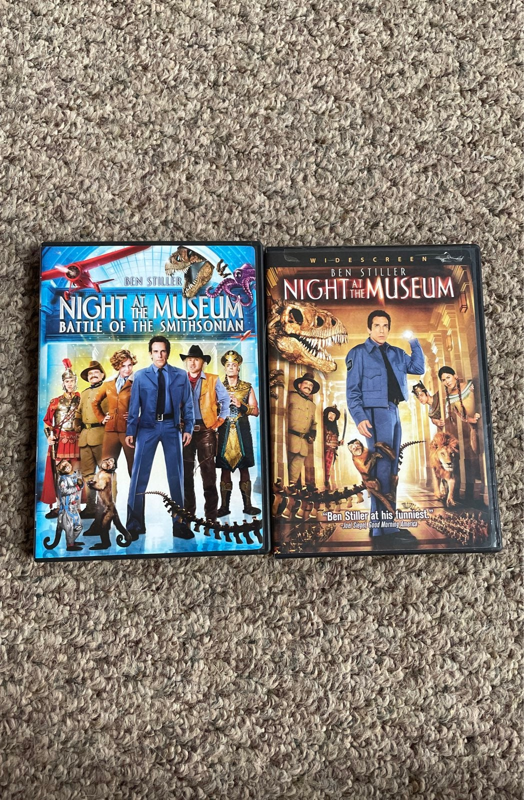Night at the Museum DVD lot