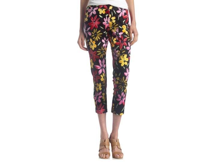 BEREK Floral Print Cropped Pants