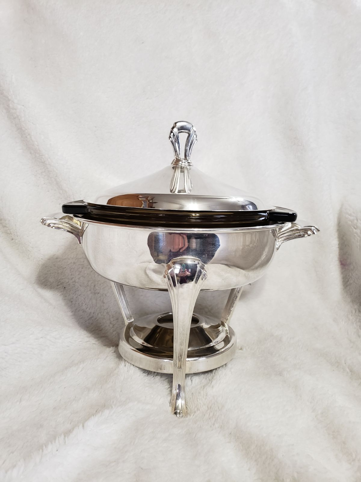 Vintage Towle silver plated chafing dish
