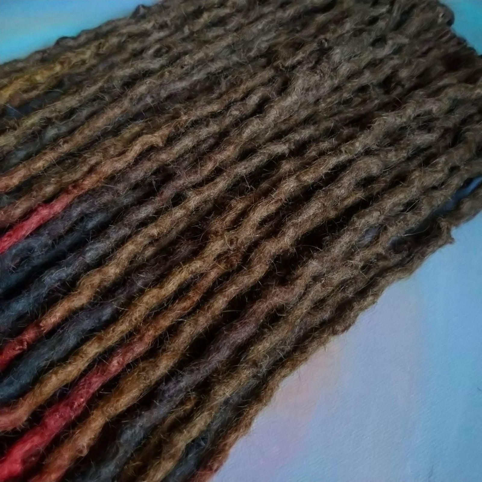 Custom set wool dreadlocks SE 20 inches