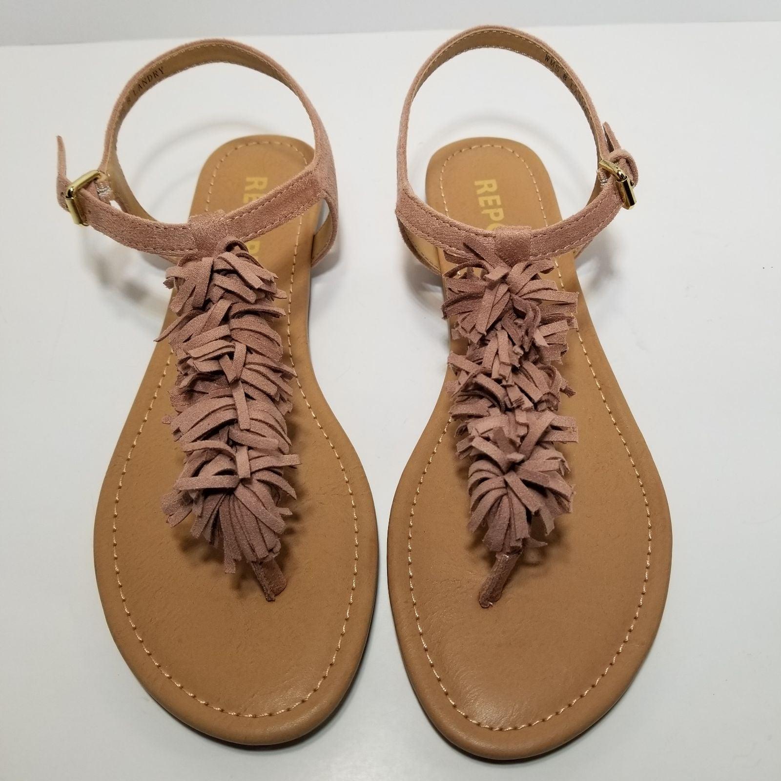 Report Landry Fringe Dusty Strap Sandals