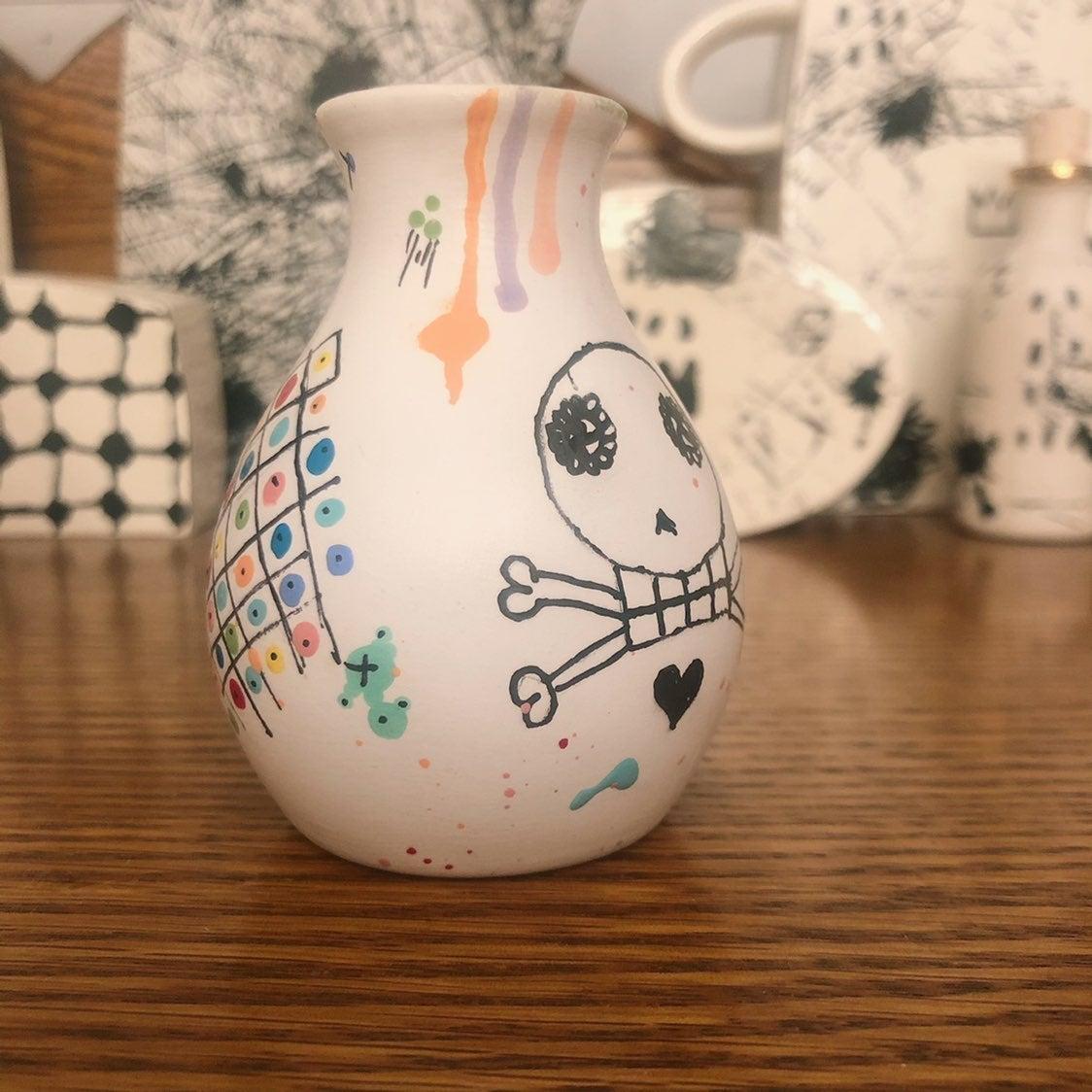 Inspired Lolliskull mini vase