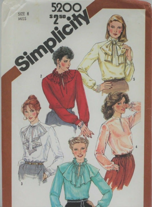 Simplicity Sew Pattern 5200 Miss Blouse