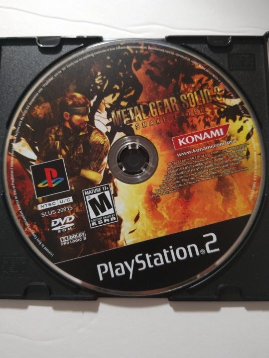 Metal Gear Solid 3 Snake Eater  - PlayStation 2 PS2 Game - Tested