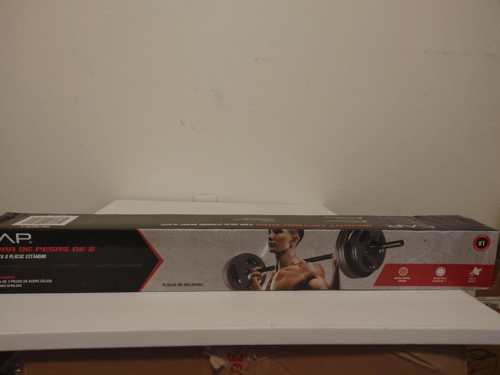 CAP 5 Ft Standard Barbell Weightlifting