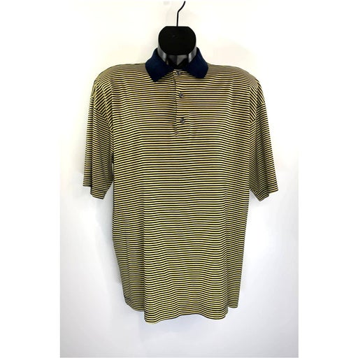 Paul Stuart Stripe Polo Tee Short Sleeve