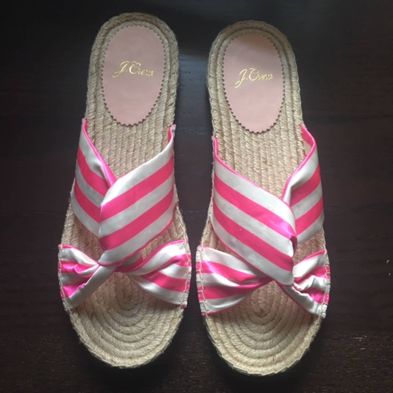J.Crew Twisted knot espadrille sandals