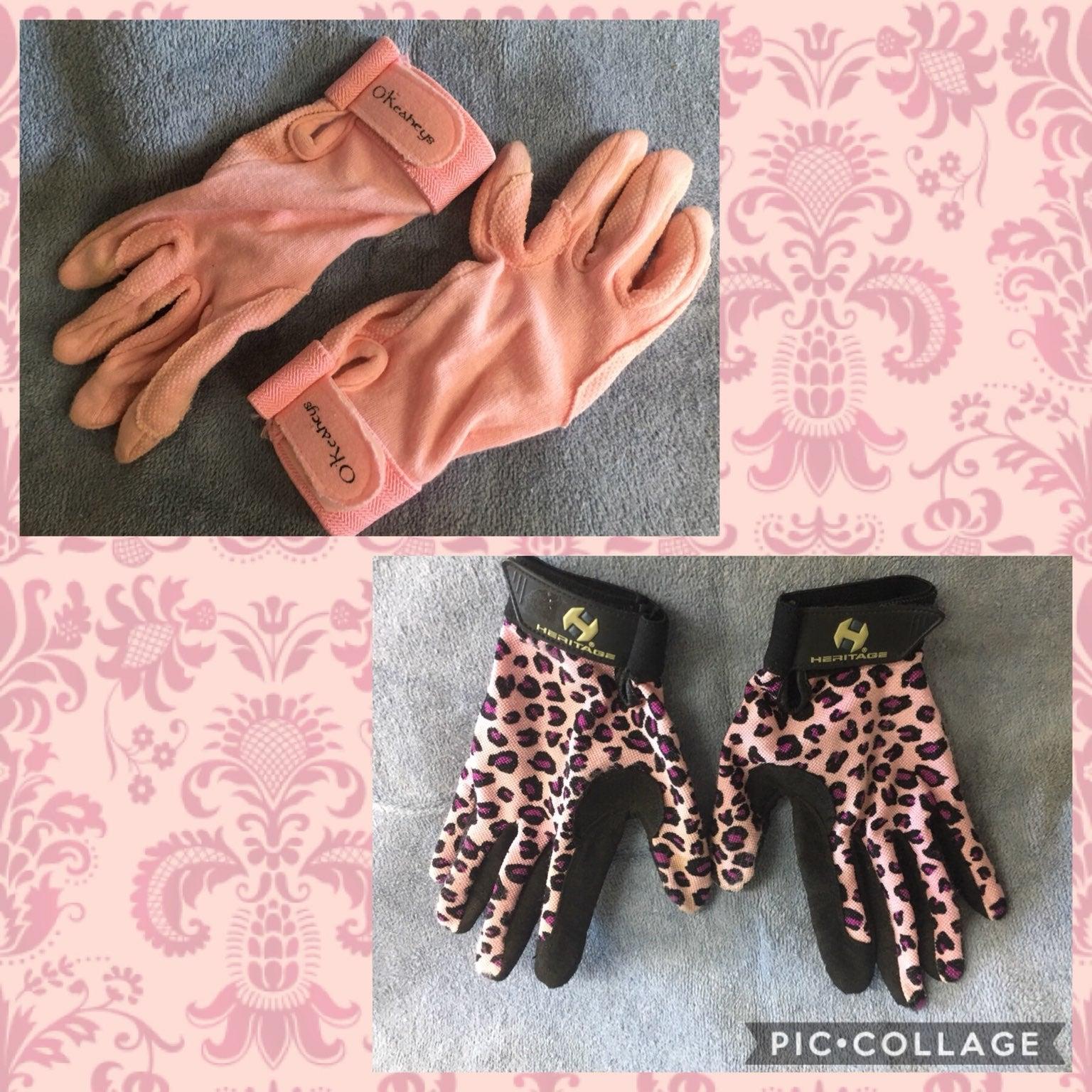 Girl's Equestrian Riding Gloves-2 Pair