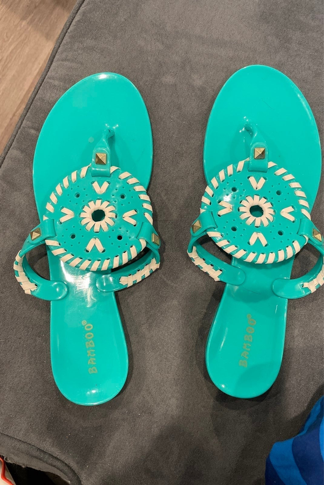 Bamboo plastic/jelly material Sandals
