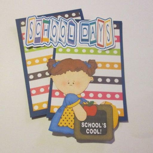 School Days Girl a - Scrapbook or Card Set