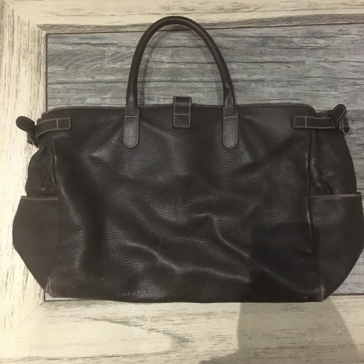 Massimo Leather Brown Bag, Made in Italy