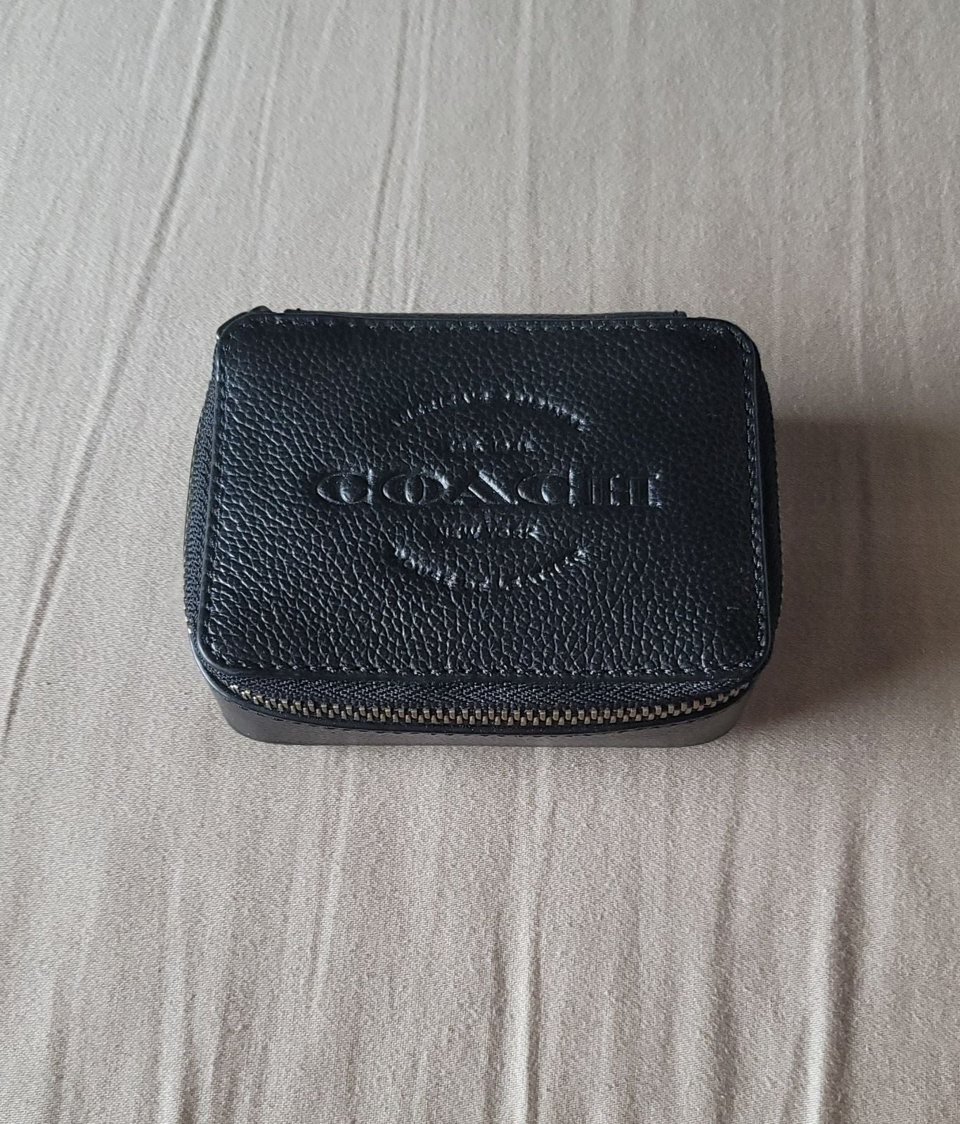 Coach Small Smooth Leather Travel Case