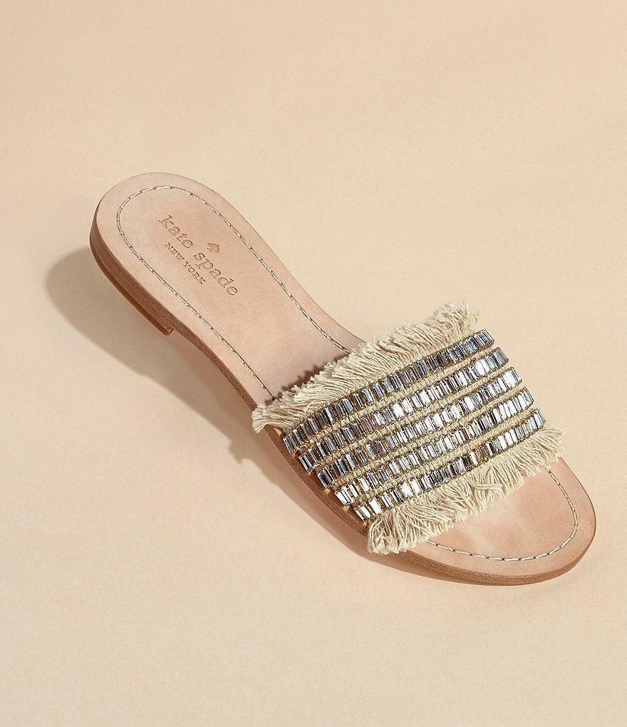 Kate spade NY Solaina Beaded Sandals Sz8