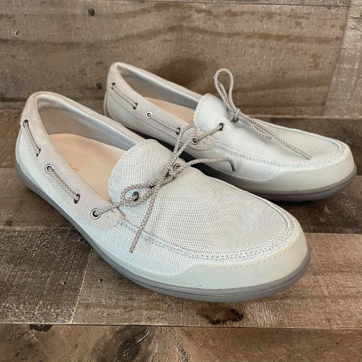 SWIMS Mens Gray Slip On Water Boat Shoes